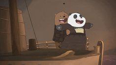 We Bare Bears - Titanic We Bare Bears Wallpapers, Panda Wallpapers, Cute Cartoon Wallpapers, Cartoon Pics, Bear Gif, Bear Character, Cute Friend Pictures, We Bear, Bear Wallpaper