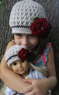 dfa9ab812cc Matching American Girl Doll and Girl Crocheted Linen by Oliviella