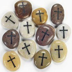 Cross Worry Stones - Decorative Accessories OTC-TV