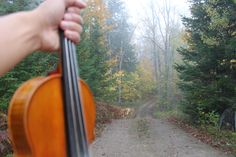 Morning walk with my Violin.