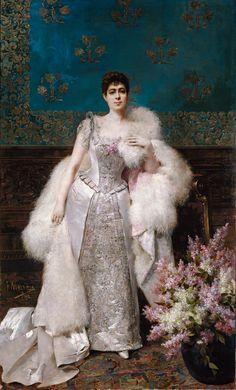 1892 Francisca Aparicio y Mérida, marquesa de Vistabella by Francisco Masriera y Manovens (Museo Nacional del Prado - Madrid Spain)