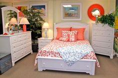 Beach Bedroom | Cottage bedroom, White Bedroom, Coastal Bedroom, Beds, Dressers, Chests, Nightstands, Headboards