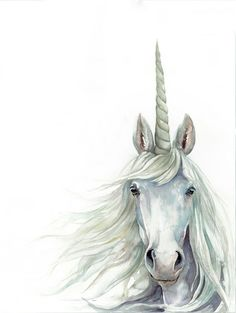 TITLE: Unicorn SIZE: & (prices vary per size) Custom Sizes available, contact seller for pricing PRINT: Archival Giclee print on Archival Fine Art Paper All designs are done by myself, please do not use without my permission. Purchase of artwork does not Unicorn Fantasy, Unicorn Horse, Unicorn Art, Unicorn Painting, Unicorn Drawing, Fantasy Creatures, Mythical Creatures, Watercolor Bedding, Unicorn Names
