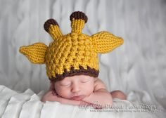Crochet Giraffe Beanie Photography by InHsTyme on Etsy, $18.00