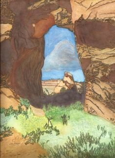 Arch on Devil's Garden Trail at Arches by jonalmondartworks