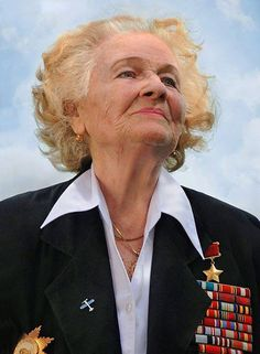 "Nadezhda Popova, who flew 852 missions during the war, including 18 in a single night. She passed away in 2013 at the age of 91. To read about Popova's incredible life story and learn more about the largely forgotten ""Night Witch""  heroines of WWII, visit http://nyti.ms/JbnOMC"