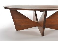 SOLD SOLD Mid Century Modern Original  Nakashima Widdicomb Sundra Round Coffee Table Occasional Table Side Table