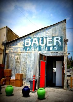 I just didn't expect the Bauer Pottery Showroom to look so darn cool. Midcentury Modern