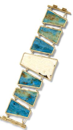 Monique Pean  Bracelet in ivory and opal