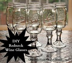 The summer entertaining season is right around the corner and now is a great time to get a few of those arts and crafts projects out of the way. This morning I made a set of DIY Redneck Wine glasses for one of my friends. She had mentioned having seen...