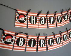 Decoraciones de cumpleaños del pirata / 10ft por anyoccasionbanners