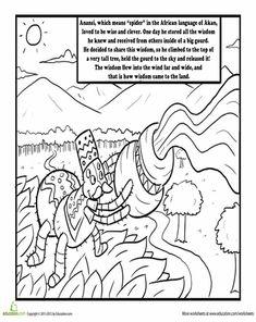 Color By Letter Worksheet Viking Gods Odin  Worksheets And Montessori Easy Combining Like Terms Worksheet Pdf with Rate Of Change Worksheet Kuta Color Anansi The Spider Seasons Worksheetsthe  K-12 Worksheets Word