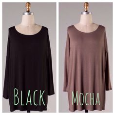 We love these TUNICS! $32- (2) S, (2) M, (2) L! Comment sold, size, color and email to purchase!!