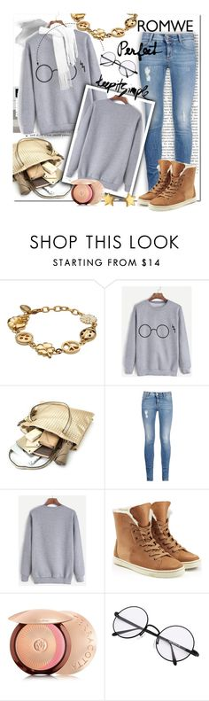 """ROMWE Grey Glasses Sweatshirt"" by wanda-india-acosta ❤ liked on Polyvore featuring Moschino Cheap & Chic, STELLA McCARTNEY, UGG Australia, Guerlain and Rebecca Minkoff"