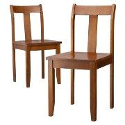 Threshold™ Dining Chairs - Chestnut - Set of 2