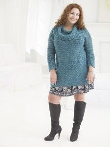 New Free Lion Brand Patterns: Plus Size Crochet & Knit Patterns --- Am short, so could adjust length easily. Retired, so would wear with slax and walking shoes.