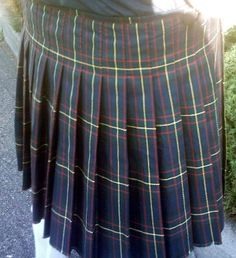How To Make Kilt Pleats Pattern | Scottish Kilt Pleated Skirt