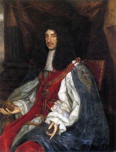 John Michael Wright (1617–1694) Charles II in garter robes (1660-1665)