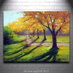 Handpainted Landscape oil painting Impressionist art canvas painting abstract canvas wall art blue items home interior