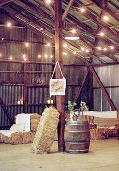 A simple country backyard barn wedding a lemonade stand