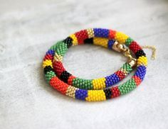 Multi Colored Striped African Style by HeriniasJewelryChest, $45.00