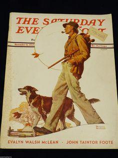 VTG Rge Saturday Evening Post Magazine Nov 16, 1935 Norman Rockwell Illustrated - Magazine Back Issues