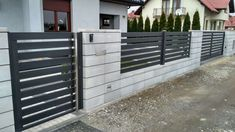 House Fence Design, Modern Garden Furniture, Steel Fence, Front Deck, My House, House Plans, Pergola, Backyard, Exterior