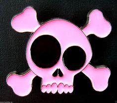 PINK HUMAN SKULL BELT BUCKLE PIRATE CROSS BONES SKULLS COOL BOUCLE DE  CEINTURE  Unbranded   f97757ffe20