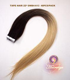 "Tape hair straight 22"""