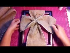 Burlap Cross on a Picture Frame. - YouTube