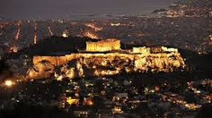 View of the Parthenon on the Acropolis, in Athens by night Acropolis Greece, Athens Greece, Parthenon Athens, Athens By Night, Greece Wallpaper, Greece Tours, Greece Trip, Athens City, Panoramic Photography