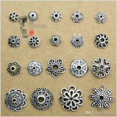 2017 Wholesale Diy Jewelry Accessories Tibetan Silver Vintage Alloy Blossom Bead Cap Flower Pedal Support Antique Silver Charms For Bracelets From Jane012, $0.19 | Dhgate.Com