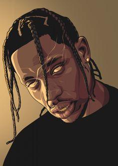 Digital Art Girl, Digital Portrait, Portrait Art, Arte Do Hip Hop, Hip Hop Art, Dope Cartoons, Dope Cartoon Art, Travis Scott Art, Travis Scott Tumblr