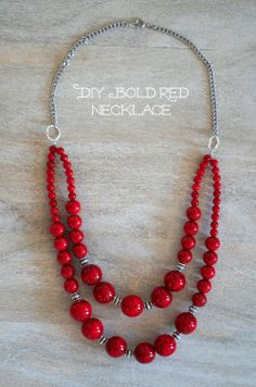 #DIY: Make a simple bold statement necklace. :: www.blitsycrafts.com :: www.blitsy.com