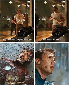 Captain America ~ Iron Man ~ We won.