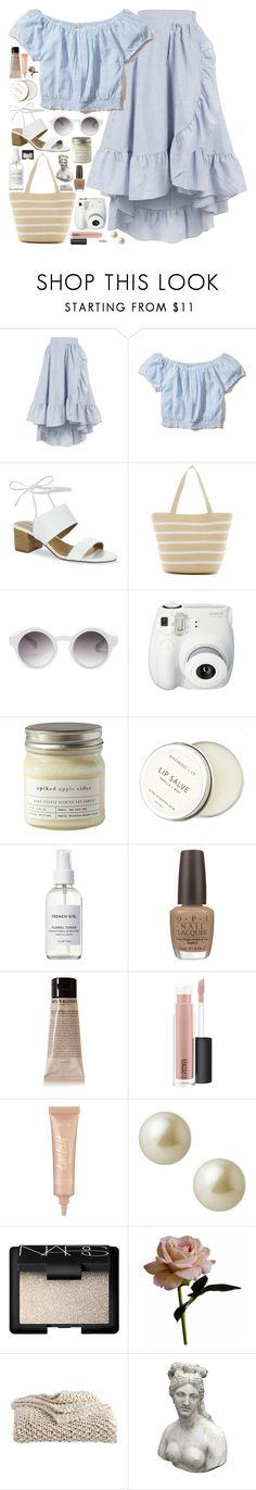 """WEEKEND IN ROME: ROAMING THE STREETS / /"" by queen-laureen ❤ liked on Polyvore featuring Maje, Hollister Co., Tahari, Magid, Monki, Fujifilm, Brooklyn Candle Studio, Birchrose + Co., French Girl and OPI"