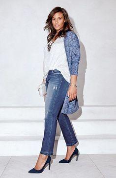 Plus Size Long Open Front Cardigan - Plus Size Outfit