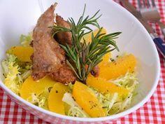 Receta | Ensalada de codorniz con naranja y vinagreta de romero - canalcocina.es