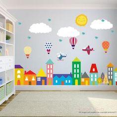 Kids Room Wall Decals, Nursery Wall Stickers, Nursery Wall Decals, Vinyl Wall Decals, Bedroom Murals, Wall Murals, Bedroom Wallpaper, Bird Wallpaper, Colorful Wallpaper