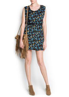 Vestido satinado floral Cottp - Mango - Talla/Size M - floral print satin dress