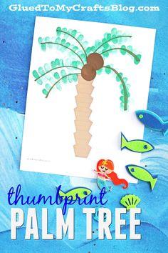Thumbprint Palm Tree! An easy activity for an ocean unit!