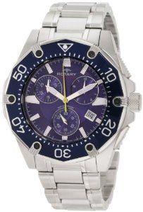 Rotary Men's AGB90033/C/05 Aquaspeed Sports Chronograph Bracelet Swiss-Made Watch Rotary. $131.70. Quartz movement. Case diameter: 45 mm. Water-resistant to 330 feet (100 M). Blue dial, diver bezel; Swiss made. Blue rotating bezel