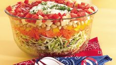As colorful and bright as a summer's day, this salad offers plentiful servings of flavor, crunch and texture.