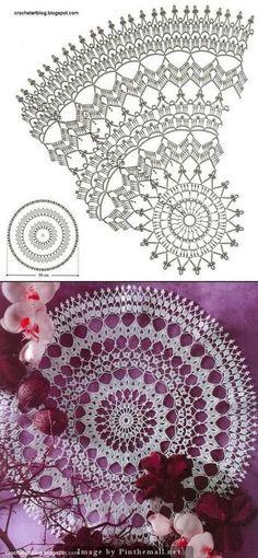 crochet doily 50cm dia. from crocheartblog.blogspot