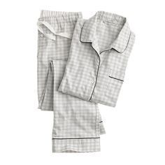 Pajama set in gingham flannel