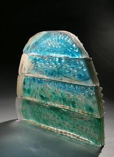 Jeremy Popelka, Edam, sand cast glass, 22x28x5