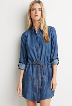 Lesel Jean Long Sleeved Shirt Dress - Buy Lesel Jean,Long Sleeved Shirt Dress,Lady Long Sleeve Dress Product on http://Alibaba.com