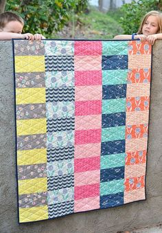 Super Simple Curiosities Quilt (with tutorial and a tip about basting with voile) | Kitchen Table Quilting | Bloglovin'