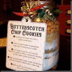 Butterscotch Chip Cookies in a Jar