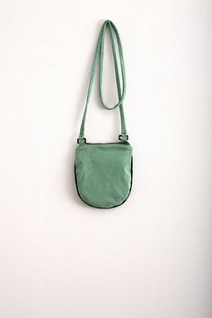 Avocado Green Bag Vegan Suede Purse Travel Wallet Small by Marewo, $39.00